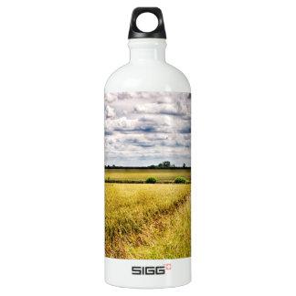 Farmland Rural Landscape HDR Water Bottle