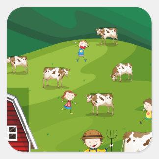 Farmland Square Sticker