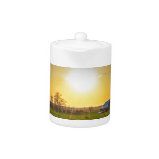Farmland Sunset Teapot