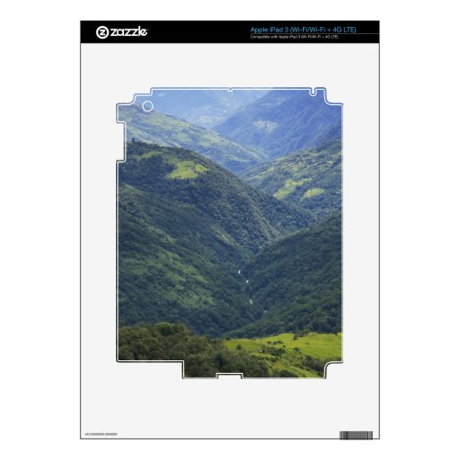 Farmlands and Himalaya forest in Mangdue valley iPad 3 Skin