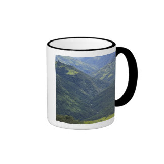 Farmlands and Himalaya forest in Mangdue valley Ringer Coffee Mug