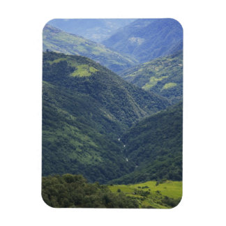 Farmlands and Himalaya forest in Mangdue valley Vinyl Magnets