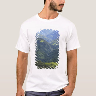 Farmlands and Himalaya forest in Mangdue valley T-Shirt