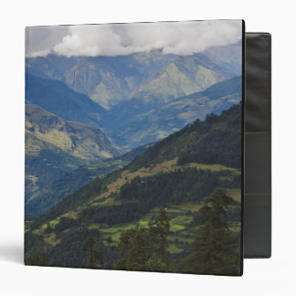 Farmlands and village in the Himalayas 3 Ring Binder