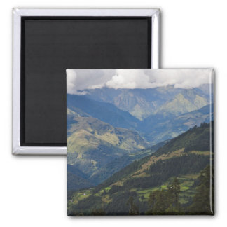 Farmlands and village in the Himalayas Magnets