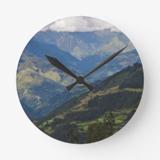 Farmlands and village in the Himalayas Round Clock