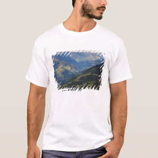 Farmlands and village in the Himalayas T-Shirt