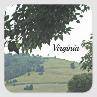 Farmlands of Virginia Square Sticker