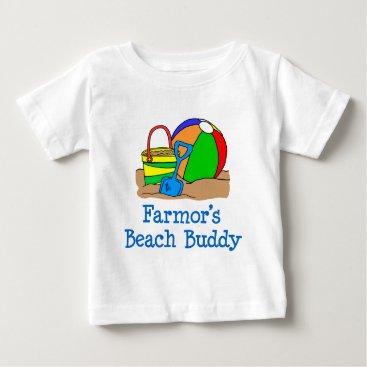 Beach Themed Farmor's Beach Buddy Baby T-Shirt