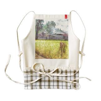 Farms and cottages zazzle HEART apron