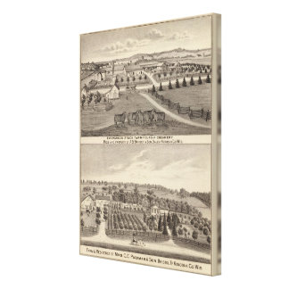 Farms and creamery, Salem and Bristol Tp Canvas Print