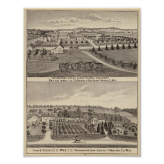 Farms and creamery, Salem and Bristol Tp Poster