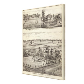 Farms and residences in Magnolia Canvas Print