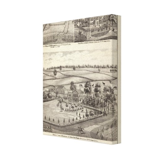 Farms and residences in Magnolia Gallery Wrap Canvas