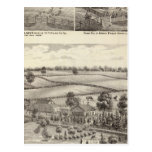 Farms and residences in Magnolia Postcard
