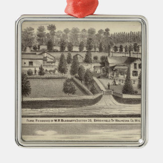 Farms and residences of WR Blodgett & GC Daubner Christmas Tree Ornaments