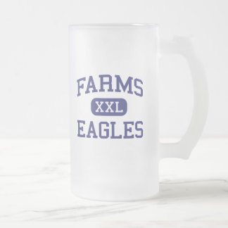 Farms Eagles Middle School Brighton Michigan 16 Oz Frosted Glass Beer Mug