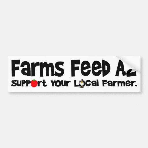 Farms Feed AZ Car Bumper Sticker