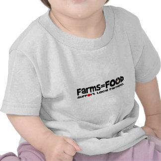 Farms=Food Tee Shirts