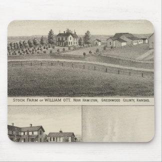 Farms in Greenwood County, Eureka, Kansas Mouse Pad