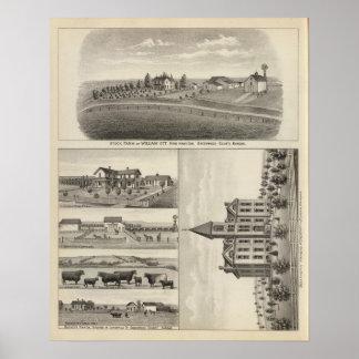 Farms in Greenwood County, Eureka, Kansas Posters