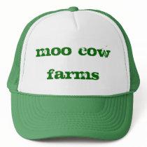 farms, moo, cow trucker hat