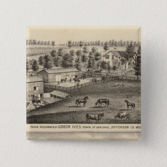 Farms of G Ives, Oakland, and A Wheeler, Pewaukee Button