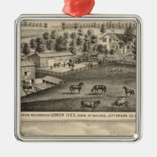 Farms of G Ives, Oakland, and A Wheeler, Pewaukee Ornament