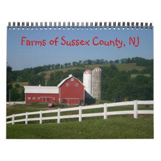 Farms of Sussex County NJ Calendar 2014