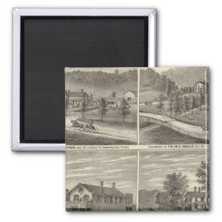 Farms, residences, stores 2 inch square magnet