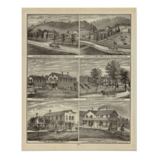 Farms, residences, stores poster