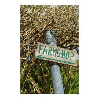 Farmshop sign custom stationery