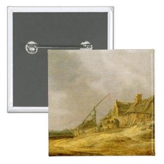 Farmstead, 1632 pinback button