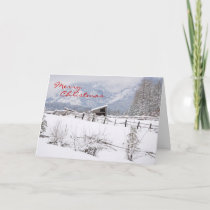 Farmstead in Winter, Merry Christmas Holiday Card