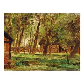 Farmstead under Trees Postcard