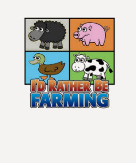 Farmville- Id rather be farming T Shirts