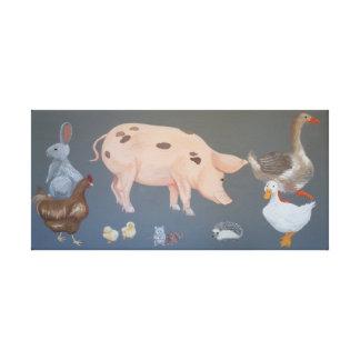 Farmyard Animals Canvas Print