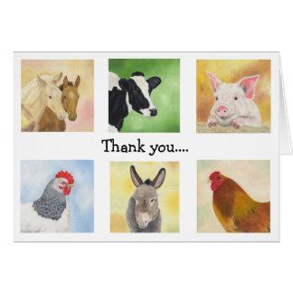 Farmyard Animals Thank You card