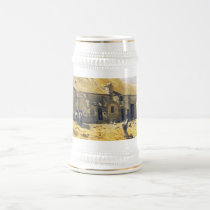 Farmyard at Chailly - Claude Monet Beer Stein