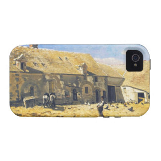Farmyard at Chailly - Claude Monet Vibe iPhone 4 Cover