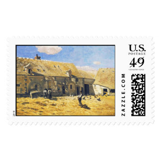 Farmyard at Chailly - Claude Monet Stamps