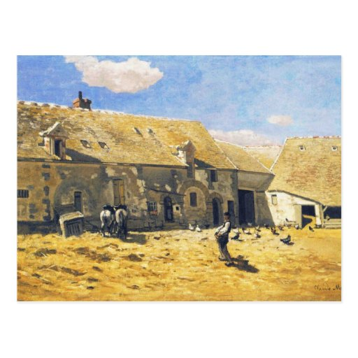Farmyard at Chailly - Claude Monet Postcard