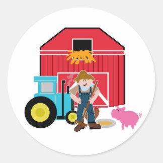 Farmyard Classic Round Sticker