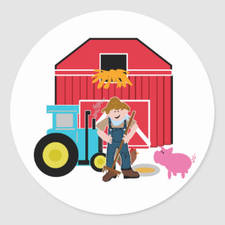 Farmyard Classic Round Sticker