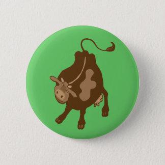 farmyard cow pinback button