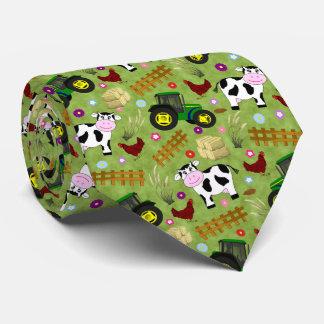 Farmyard Cow Scene Neck Tie