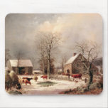 Farmyard in Winter Mouse Pad