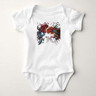 Farmyard Roosters Baby Bodysuit