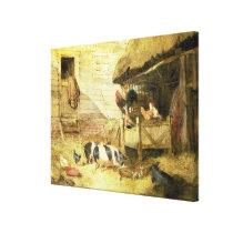 Farmyard Scene Canvas Print