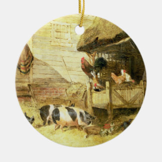 Farmyard Scene Ceramic Ornament
